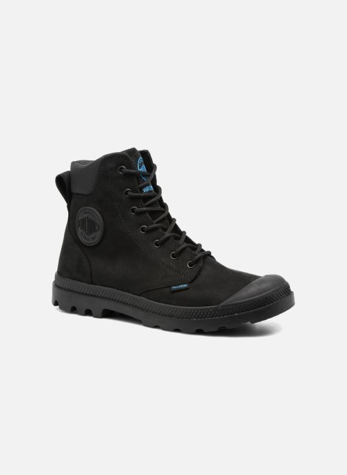 Ankle boots Palladium Pampa Cuff WP LUX M Black detailed view/ Pair view