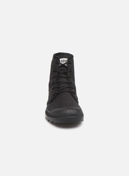 Sneaker Palladium Pampa Hi Originale TC schwarz schuhe getragen