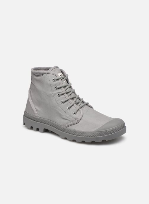 Baskets Palladium Pampa Hi Originale TC Gris vue détail/paire