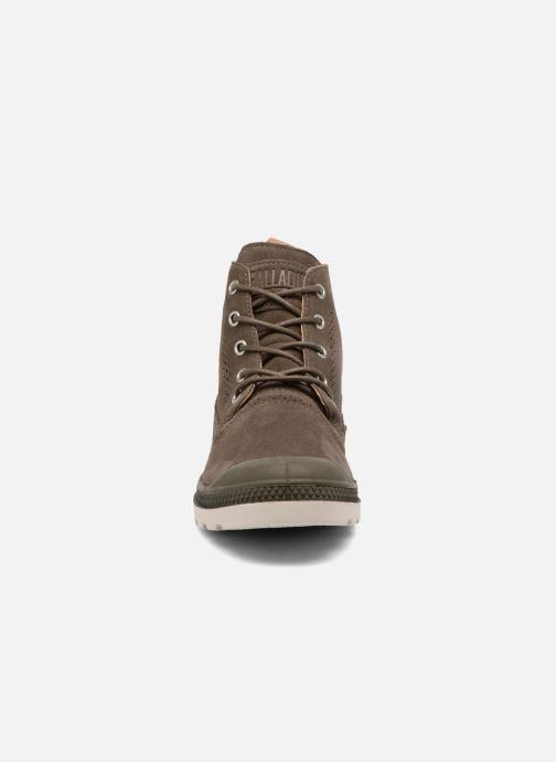 Bottines et boots Palladium London Lp Mid W Marron vue portées chaussures