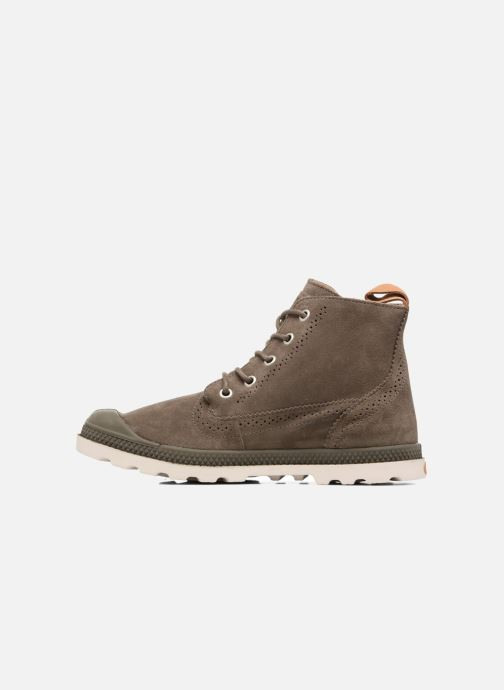 Ankle boots Palladium London Lp Mid W Brown front view