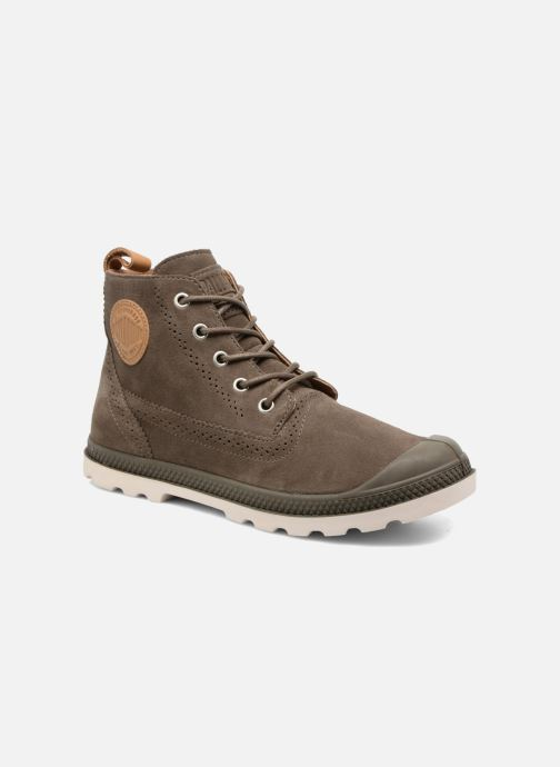 Bottines et boots Palladium London Lp Mid W Marron vue détail/paire