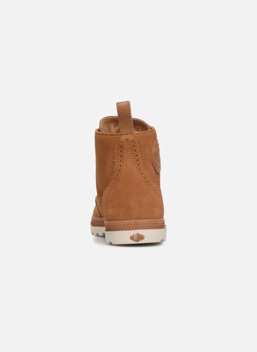 Bottines et boots Palladium London Lp Mid W Marron vue droite