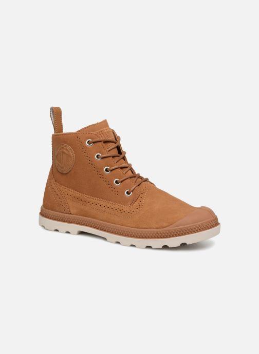 Bottines et boots Palladium London Lp Mid W Marron vue détail/paire