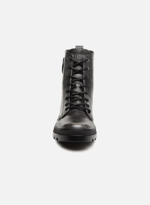 Bottines et boots Palladium Pallabosse OFF Lea Noir vue portées chaussures