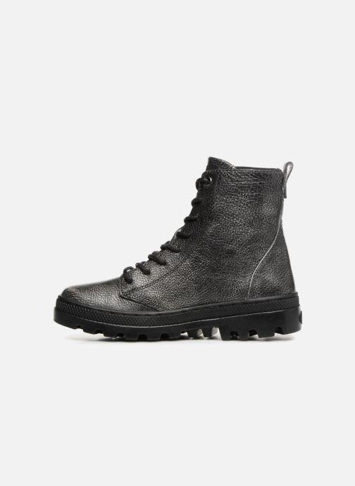 Bottines et boots Palladium Pallabosse OFF Lea Noir vue face