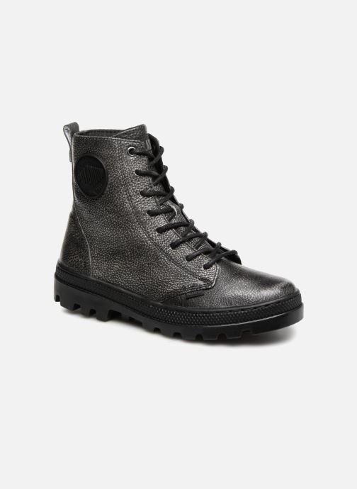 Bottines et boots Palladium Pallabosse OFF Lea Noir vue détail/paire