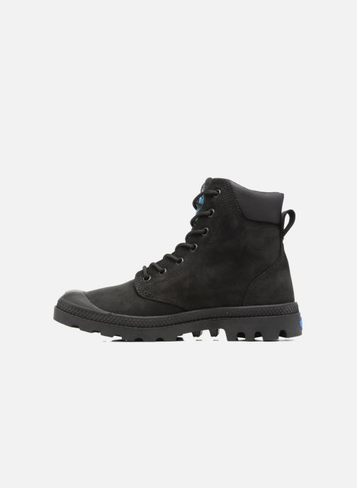 Ankle boots Palladium Pampa Cuff WP LUX W Black front view