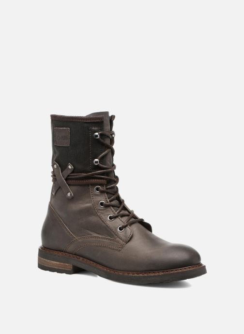 Ankle boots P-L-D-M By Palladium Bupswing Mix Brown detailed view/ Pair view