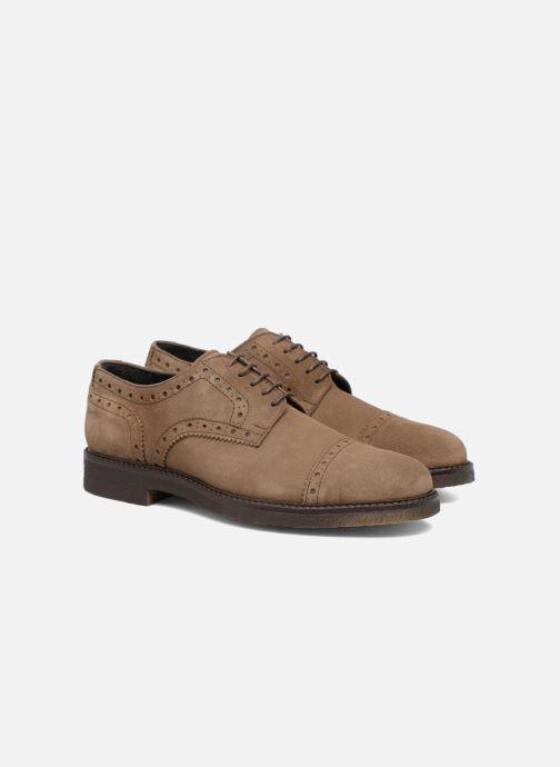 Zapatos con cordones Mr SARENZA Clent Beige vistra trasera