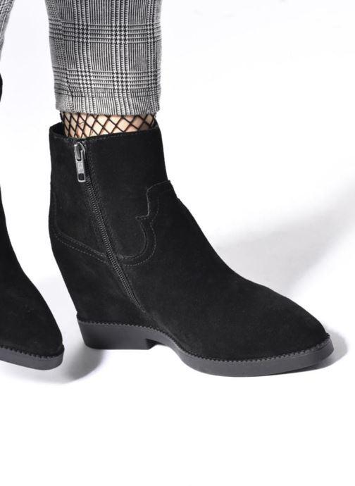 Bottines et boots Ash Goldie Noir vue bas / vue portée sac