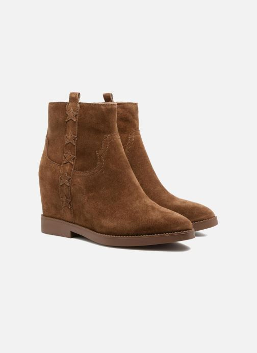 Bottines et boots Ash Goldie Marron vue 3/4