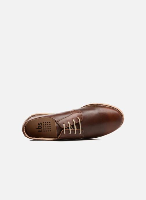 Lace-up shoes TBS Farrah  3 Brown view from the left