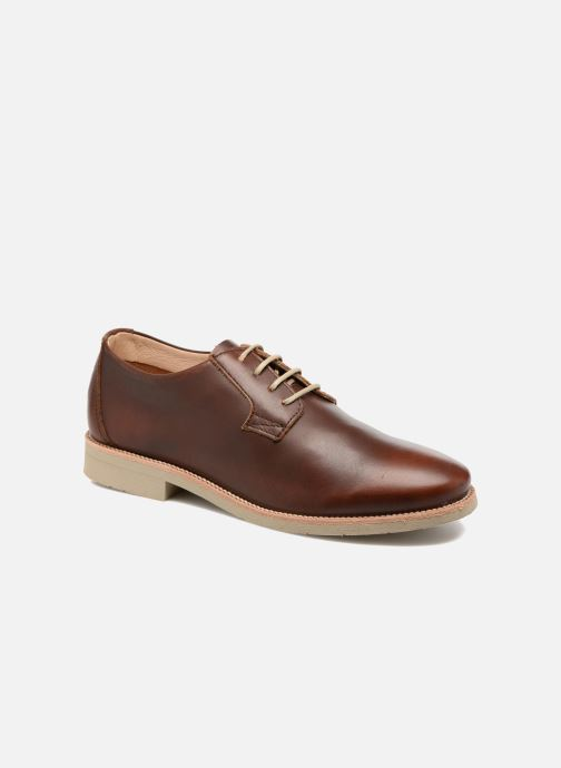 Lace-up shoes TBS Farrah  3 Brown detailed view/ Pair view