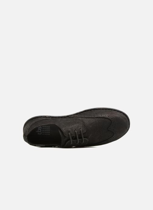Zapatos con cordones TBS Yonkers Negro vista lateral izquierda