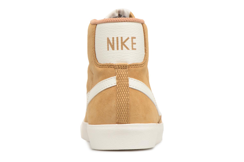 Baskets Nike Wmns Blazer Mid Vntg Suede Marron vue droite