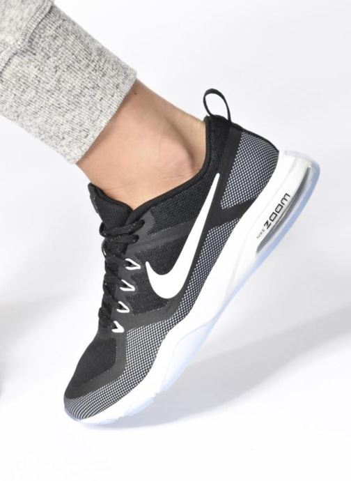 Sport shoes Nike Wmns Nike Air Zoom Fitness Black view from underneath / model view