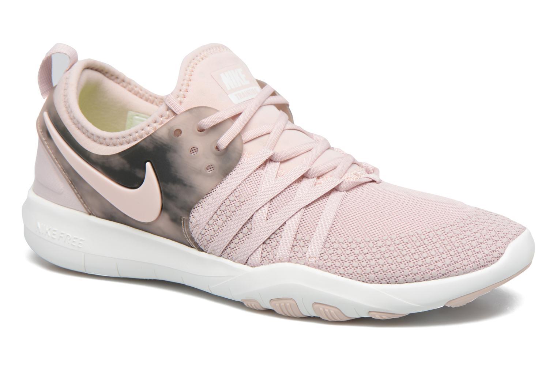 Chaussures de sport Nike Wmns Nike Free Tr 7 Amp Rose vue détail/paire