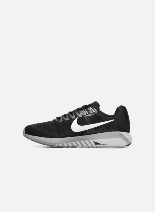 Sportschuhe Nike Nike Air Zoom Structure 21 schwarz ansicht von vorne