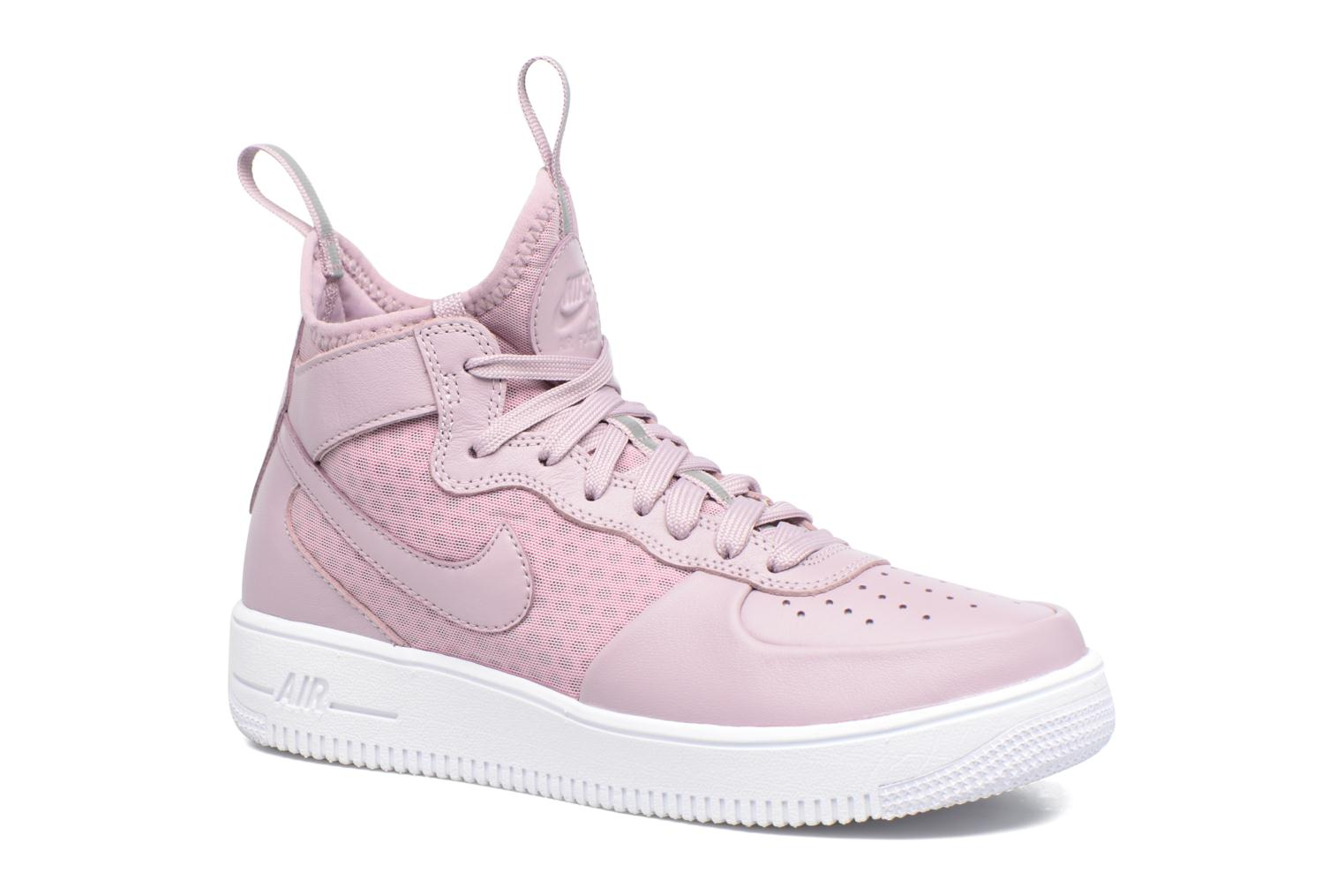 Baskets Nike W Air Force 1 Ultraforce Mid Violet vue détail/paire