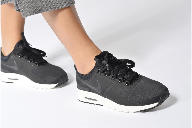 Baskets Nike W Air Max Zero Prm Noir vue bas / vue portée sac