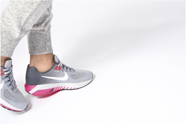 Chaussures de sport Nike W Nike Air Zoom Structure 21 Bleu vue bas / vue portée sac