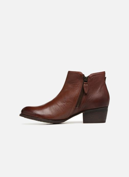 Ankle boots Clarks Maypearl Ramie Brown front view