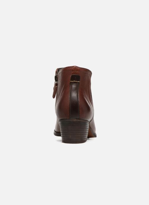 Ankle boots Clarks Maypearl Ramie Brown view from the right