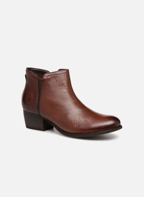 Ankle boots Clarks Maypearl Ramie Brown detailed view/ Pair view