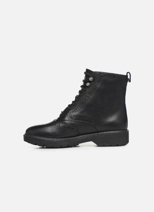 Boots en enkellaarsjes Clarks Witcombe Flo Zwart voorkant