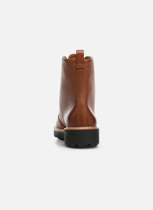 Ankle boots Clarks Witcombe Flo Brown view from the right