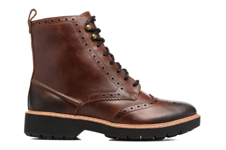 Boots en enkellaarsjes Clarks Witcombe Flo Bruin achterkant