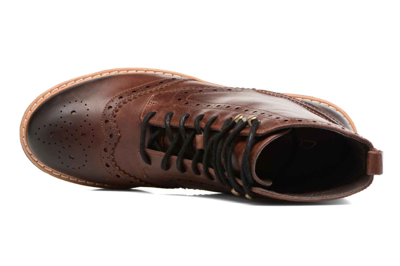 Boots en enkellaarsjes Clarks Witcombe Flo Bruin links