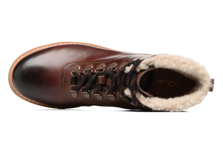 Bottines et boots Clarks Witcombe Rock Marron vue gauche
