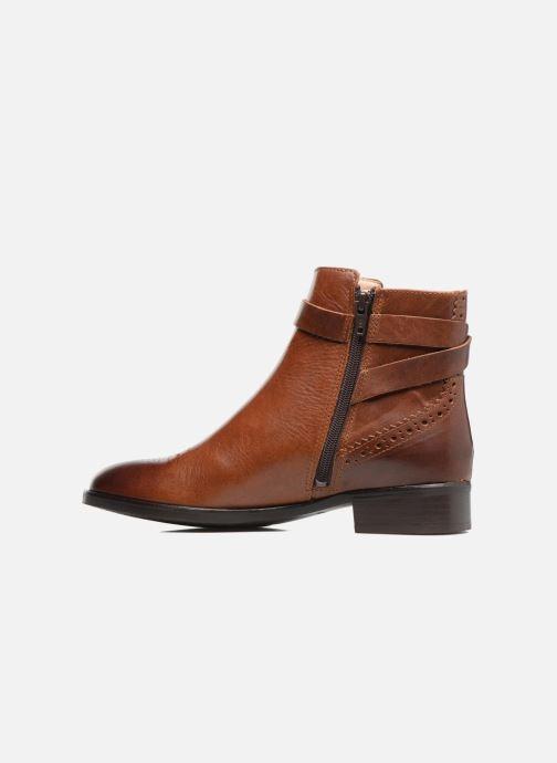 Bottines et boots Clarks Netley Olivia Marron vue face