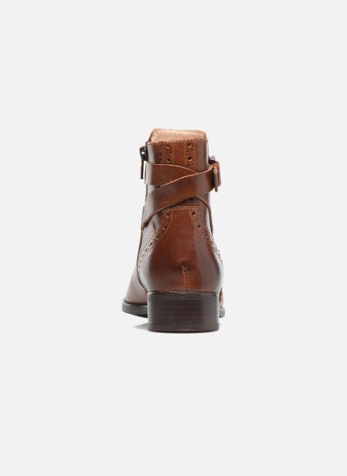Bottines et boots Clarks Netley Olivia Marron vue droite