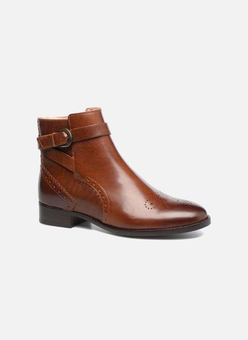 Ankelstøvler Clarks Netley Olivia Brun detaljeret billede af skoene
