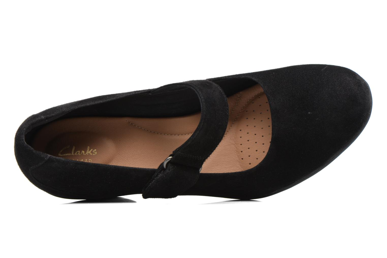 Zapatos de tacón Clarks Adya Clara Negro vista lateral izquierda