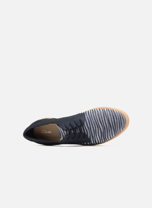 Chaussures à lacets Clarks Lillia Lola Bleu vue gauche