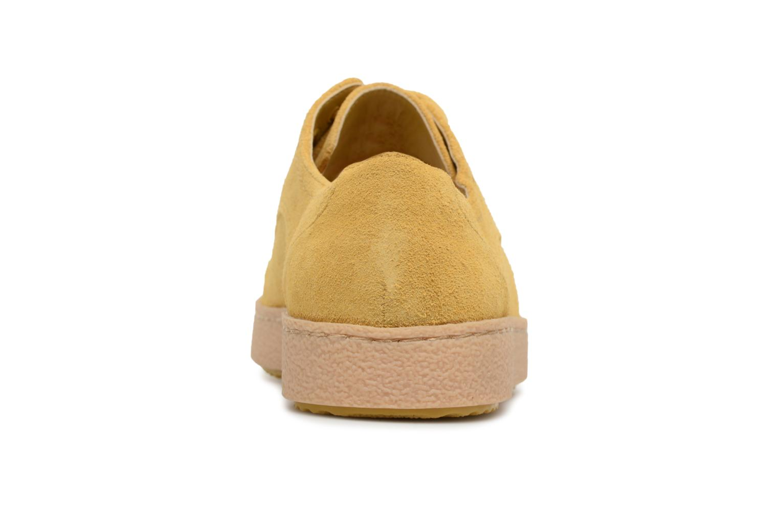 Lace-up shoes Clarks Lillia Lola Yellow view from the right