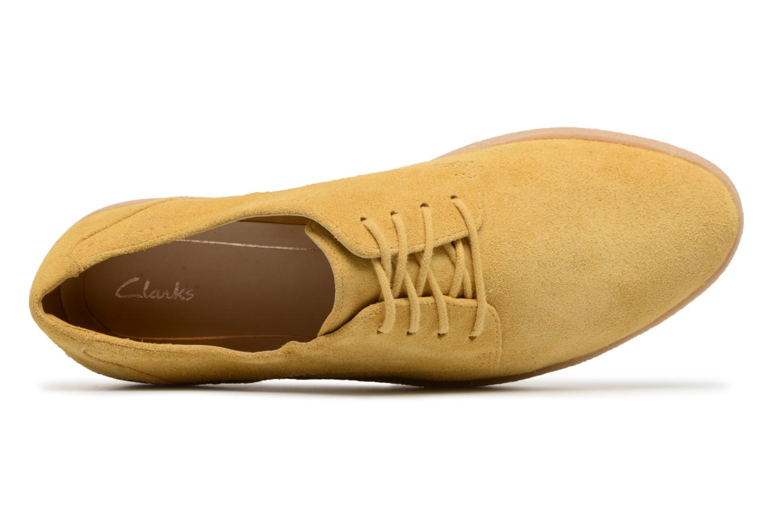Lace-up shoes Clarks Lillia Lola Yellow view from the left