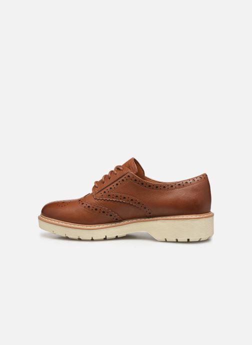 Zapatos con cordones Clarks Witcombe Echo Marrón vista de frente