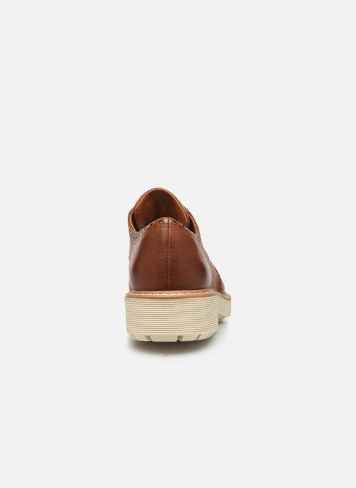 Zapatos con cordones Clarks Witcombe Echo Marrón vista lateral derecha