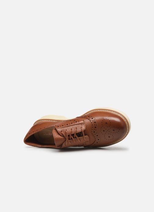 Zapatos con cordones Clarks Witcombe Echo Marrón vista lateral izquierda