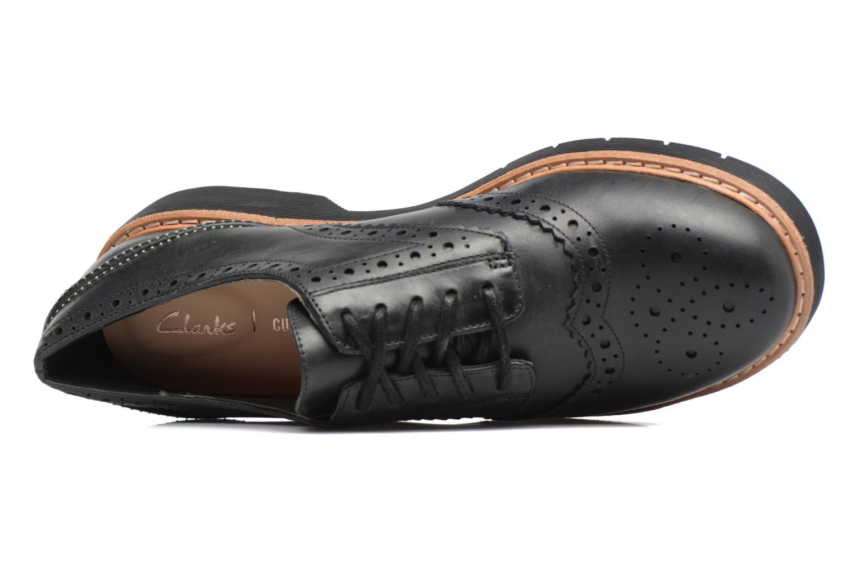 Chaussures à lacets Clarks Witcombe Echo Noir vue gauche