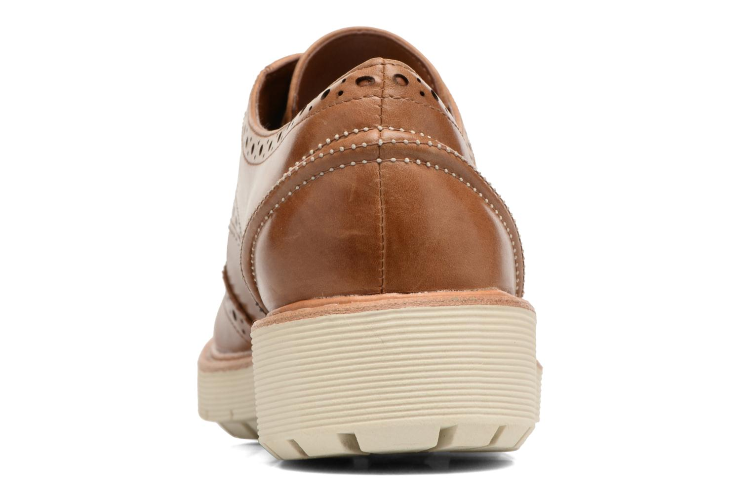 Lace-up shoes Clarks Witcombe Echo Brown back view