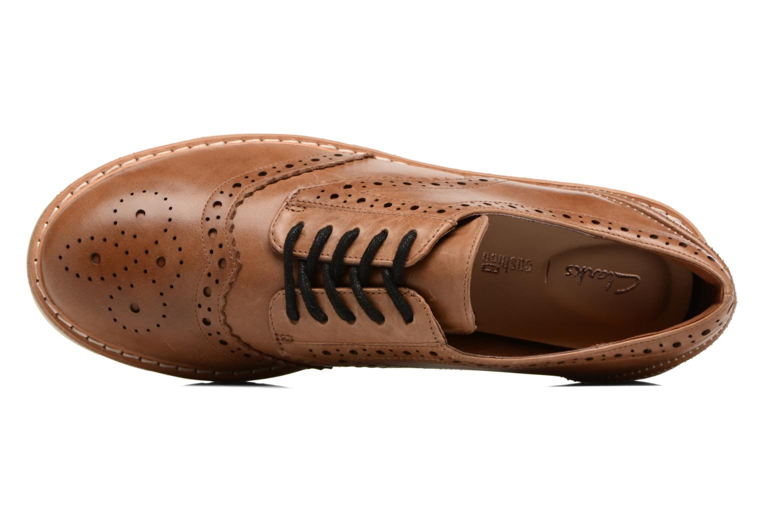 Lace-up shoes Clarks Witcombe Echo Brown view from above
