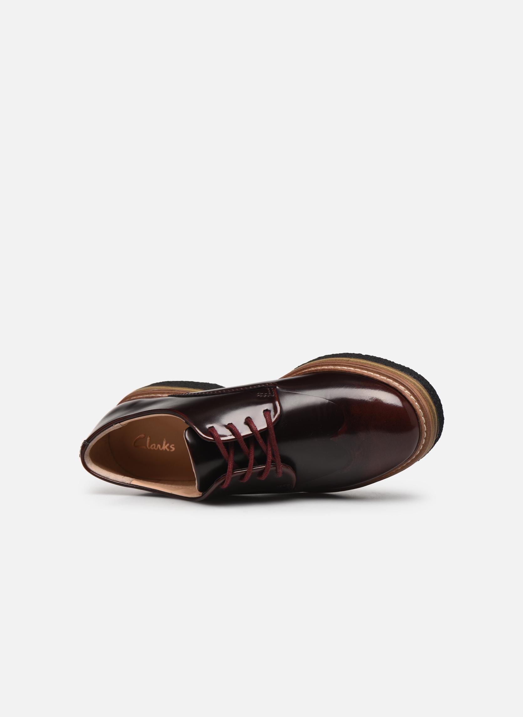Chaussures à lacets Clarks Zante Zara Bordeaux vue gauche