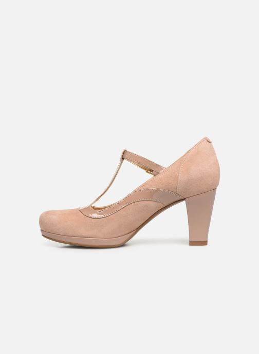 High heels Clarks Chorus Pitch Beige front view