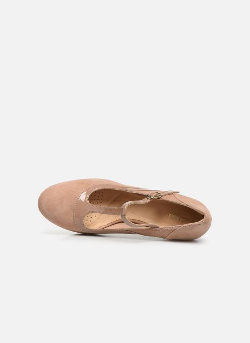 High heels Clarks Chorus Pitch Beige view from the left
